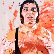"Andre the Giant - Acrylic on 24"" x 24"" wood"