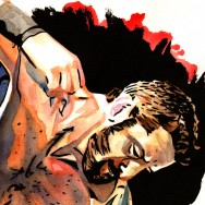 "Wade Barrett - Ink and watercolor on 9"" x 12"" watercolor paper"