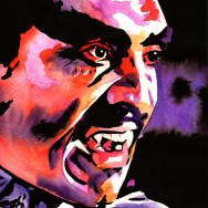 "Blacula - Ink and watercolor on 9"" x 12"" watercolor paper"
