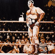 "Bruno Sammartino - Acrylic on 24"" x 24"" canvas"