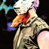 "Erick Rowan - Ink and watercolor on 9"" x 12"" watercolor paper"