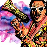 "Jimmy Hart - Ink and watercolor on 9"" x 12"" watercolor paper"