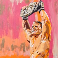 "John Cena - Acrylic on 24"" x 24"" canvas"