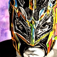 "Kalisto - Ink and watercolor on 9"" x 12"" watercolor paper"