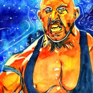 "Ryback - Ink and watercolor on 9"" x 12"" watercolor paper"