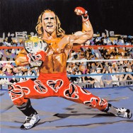 "Shawn Michaels - Acrylic on 24"" x 24"" canvas"