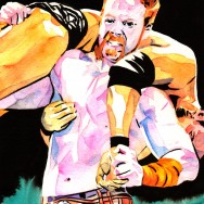 "Sheamus - Ink and watercolor on 9"" x 12"" watercolor paper"