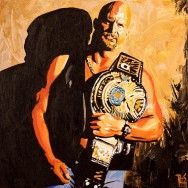 "Stone Cold Steve Austin - Acrylic on 24"" x 24"" canvas"