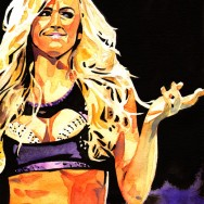 "Summer Rae - Ink and watercolor on 9"" x 12"" watercolor paper"