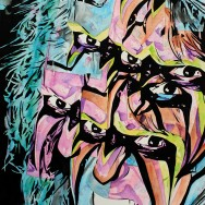 "Ultimate Warrior - Ink, dye, and watercolor on 22"" x 30"" watercolor paper"