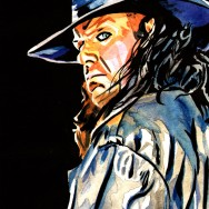 "The Undertaker - Ink and watercolor on 9"" x 12"" watercolor paper"