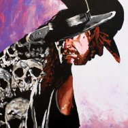 "The Undertaker - Acrylic on 30"" x 40"" acrylic"