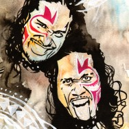 "The Usos - Ink, acrylic and watercolor on 9"" x 12"" watercolor paper"