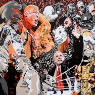 "WrestleMania XXX - Acrylic on 40"" x 30"" canvas"