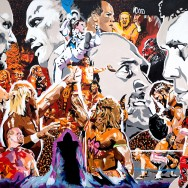 Thirty Years of WrestleMania - Acrylic on 7' x 5' canvas