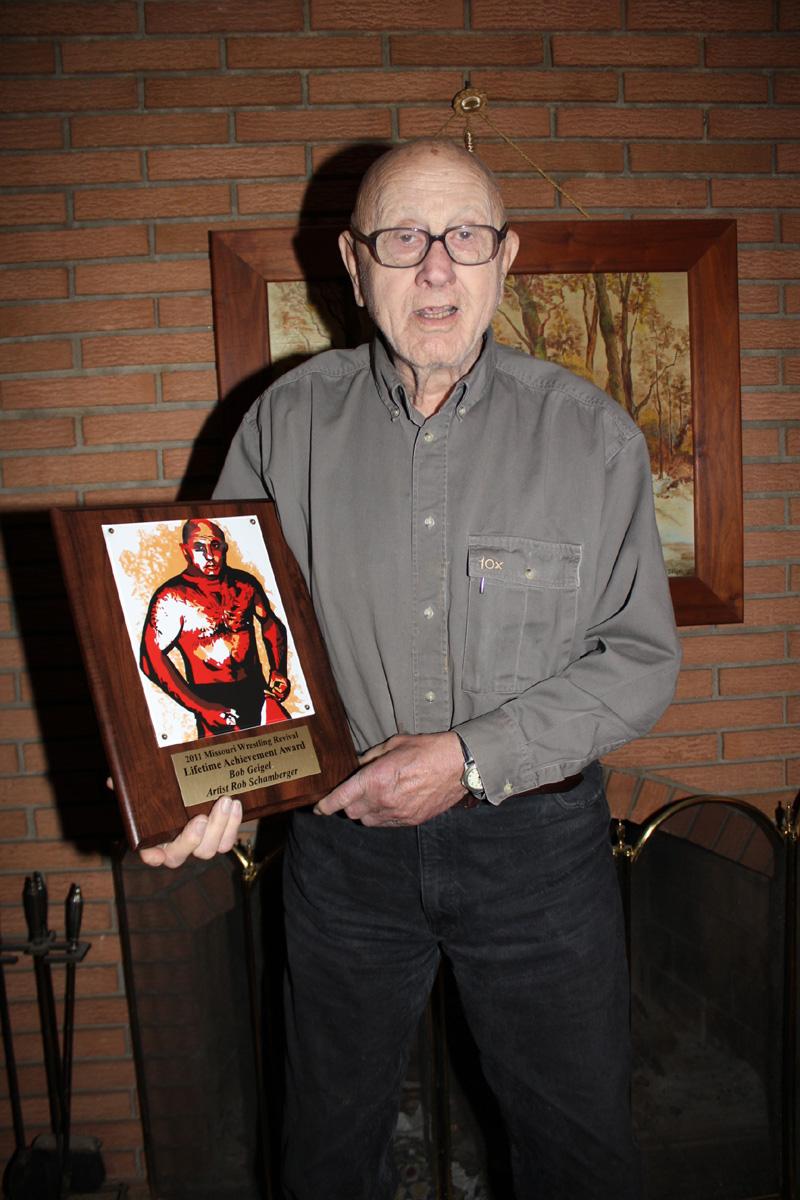 Illustration of Bob Geigel by Kansas City artist Rob Schamberger