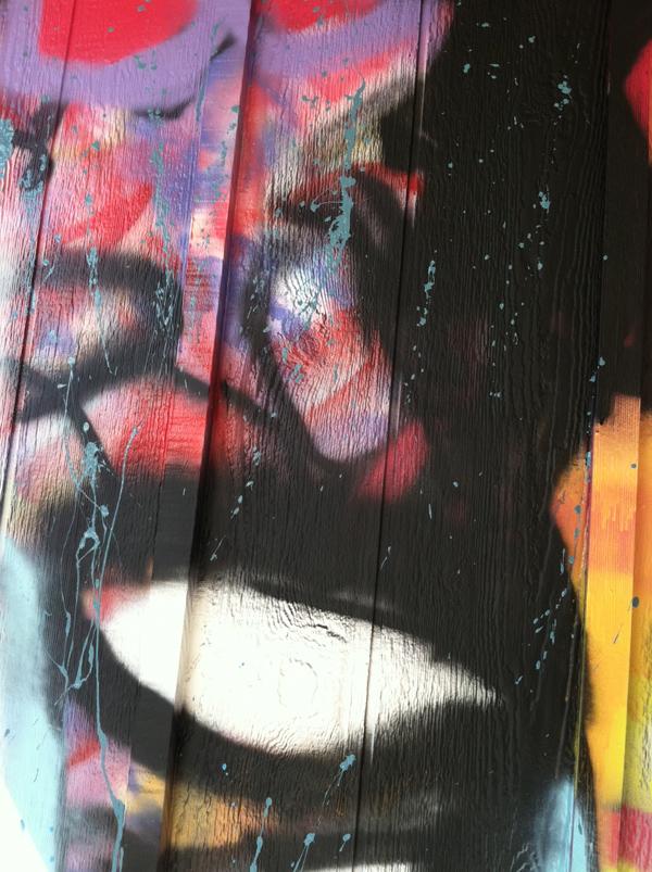Street art by Kansas City artist Rob Schamberger
