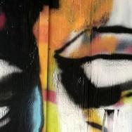 Street art progress by Kansas City artist Rob Schamberger