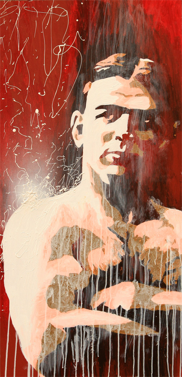 Frank Gotch painting by Rob Schamberger