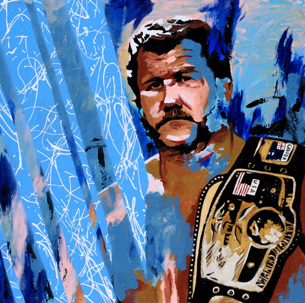 Harley Race painting by Rob Schamberger
