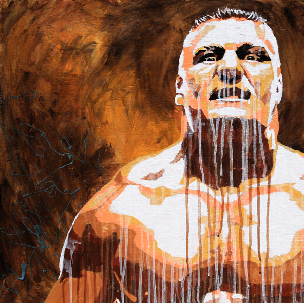 Brock Lesnar painting by Rob Schamberger