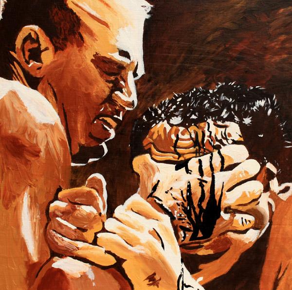 Fritz von Erich painting by Rob Schamberger