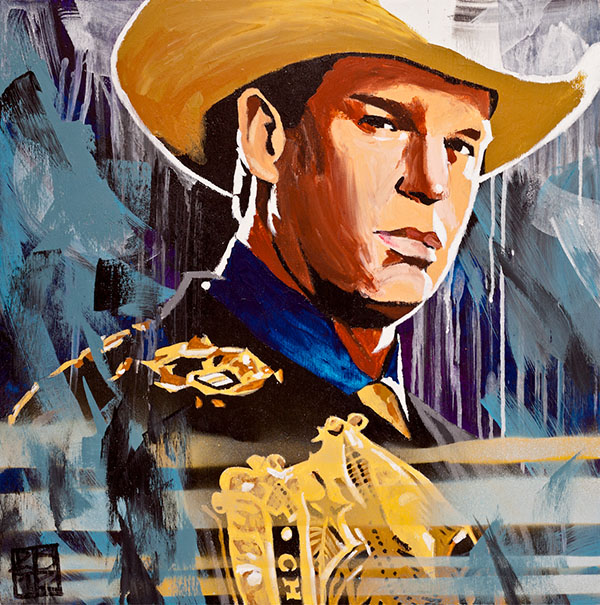 John Bradshaw Layfield painting by Rob Schamberger