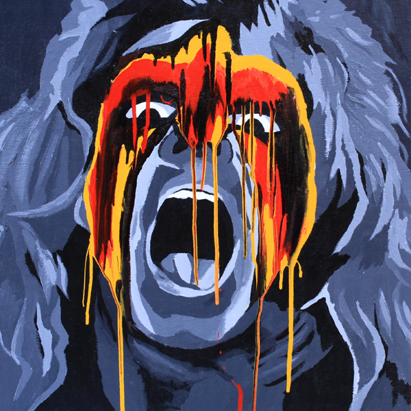 The Ultimate Warrior painting by Rob Schamberger