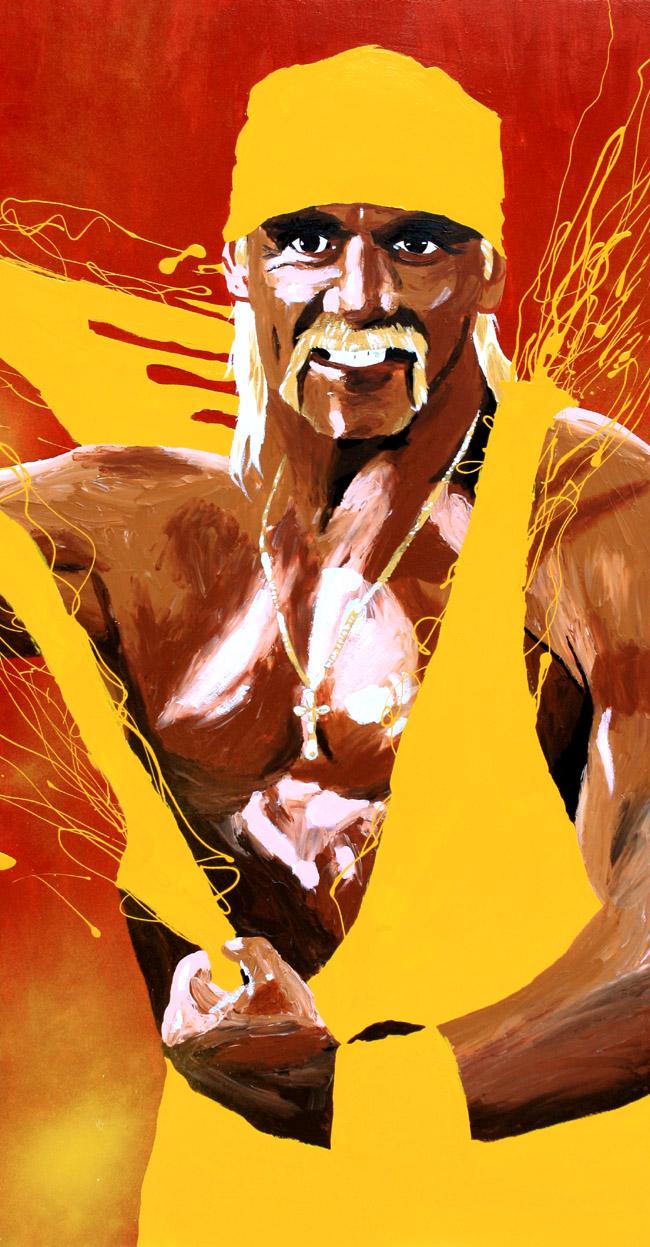 Hulk Hogan painting by Rob Schamberger