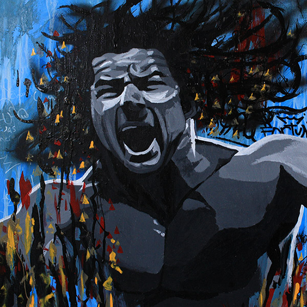 Bobby Roode painting by Rob Schamberger