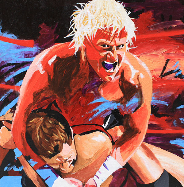 Dolph Ziggler painting by Rob Schamberger