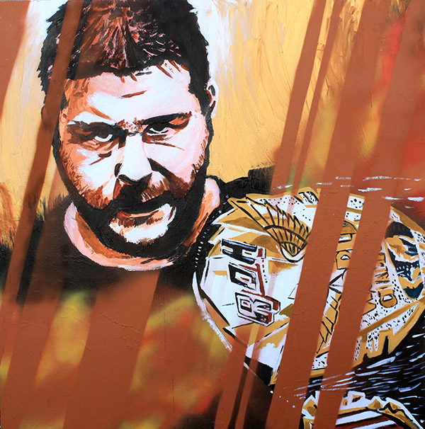 Kevin Steen painting by Rob Schamberger