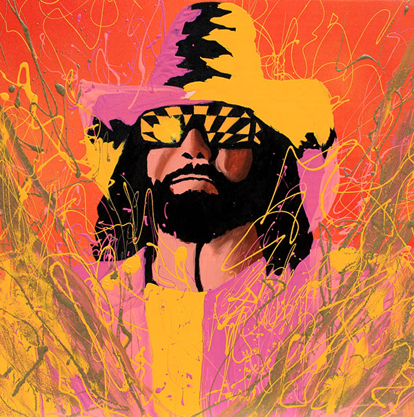 The Macho Man Randy Savage painting by Rob Schamberger