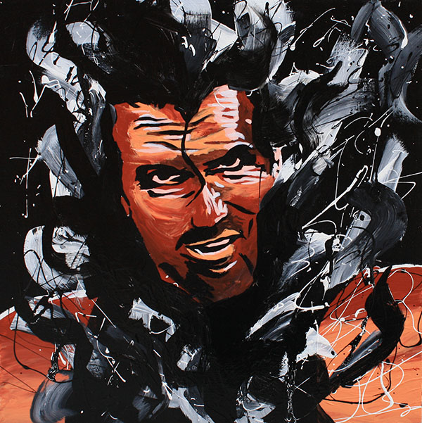 Scott Hall painting by Rob Schamberger