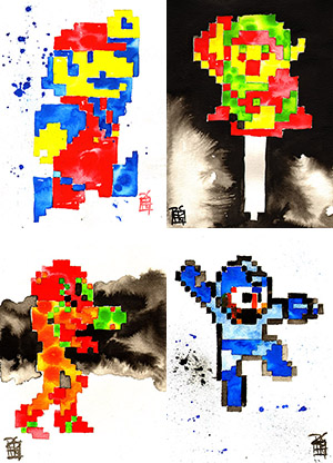 Purchase 8-Bit Memories Print Set by Rob Schamberger