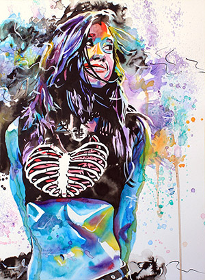 Purchase AJ Lee Painting by Rob Schamberger