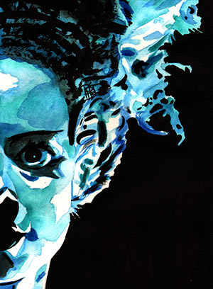 Purchase Bride of Frankenstein Painting by Rob Schamberger