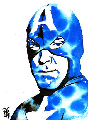 Purchase Captain America Painting by Rob Schamberger