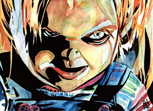 Purchase Chucky Painting by Rob Schamberger