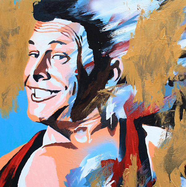 Colt Cabana painting by Rob Schamberger