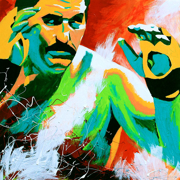 Dan Severn painting by Rob Schamberger