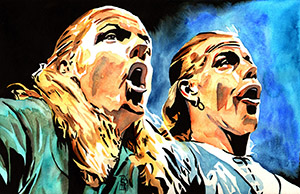 Purchase D-Generation X Painting by Rob Schamberger
