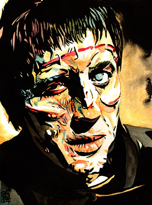Purchase Frankenstein's Monster Painting by Rob Schamberger