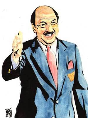Purchase Mean Gene Okerlund Painting by Rob Schamberger