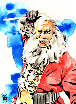 Purchase Goldberg Santa Painting by Rob Schamberger