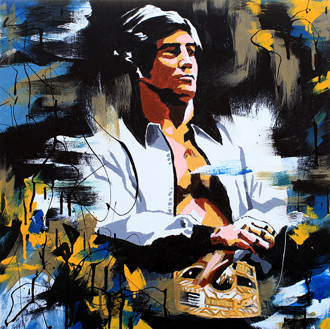 Jack Brisco painting by Rob Schamberger