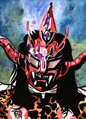Purchase Jushin Thunder Liger Painting by Rob Schamberger
