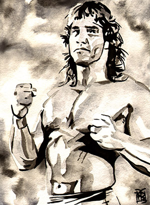 Purchase Kerry Von Erich Painting by Rob Schamberger