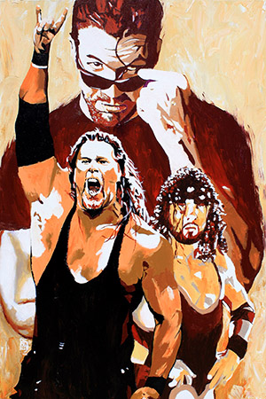 Purchase The Kliq Painting by Rob Schamberger