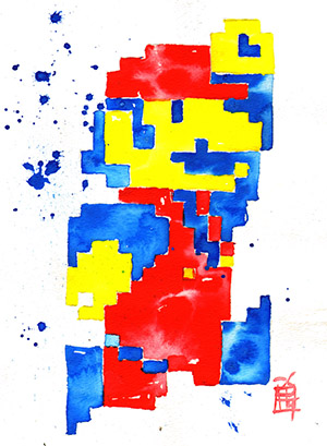 Purchase Mario Painting by Rob Schamberger